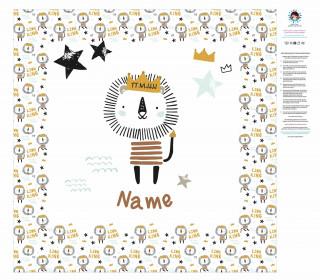 DIY-Nähset Babydecke - Little Lion King - Heldenzeit - Top Babydecke - personalisiertes Krabbeldecken Top - zum selber Nähen
