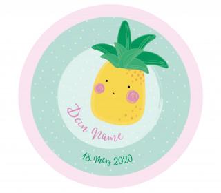 DIY-Nähset Babydecke - Rund - Wie eine Ananas - Top Babydecke - pers. Krabbeldecken Top - zum selber Nähen