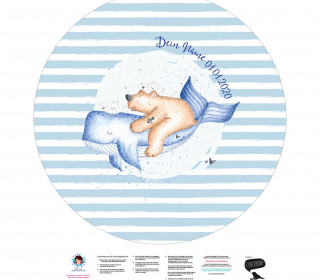DIY-Nähset Babydecke - Rund - Walabenteuer - Treeebird - personalisiertes Krabbeldecken Top - zum selber Nähen