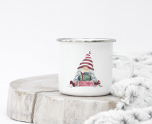 Emaille Becher - Christmas Gnome