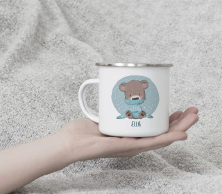 Emaille Becher - Cozy Bear