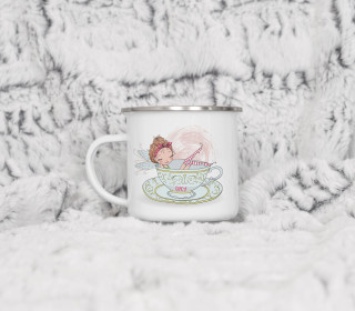 Emaille Becher - Fairy Christmas Tea