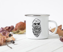 Emaille Becher - Santa Cool