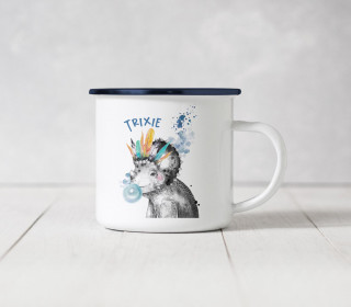 Emaille Becher – Trixie Triceratops
