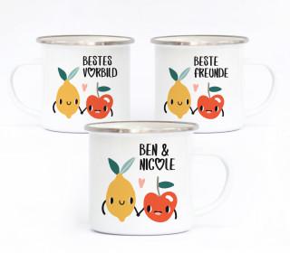 Emaille Becher - Fruchtfreunde