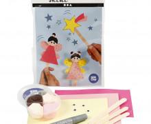 Mini Kreativ Set 7 - Kleine Fee - Eisstiel-Figuren - Wunschgeschenk