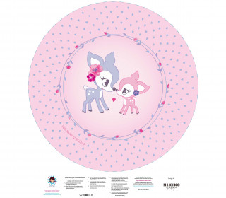 DIY-Nähset Babydecke - Rund - MamaKitz - NIKIKO - personalisiertes Krabbeldecken Top - zum selber Nähen