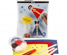 Mini Kreativ Set 9 - Superhelden - Eisstiel-Figuren - Wunschgeschenk