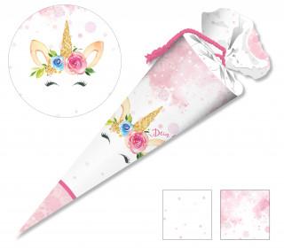 DIY-Nähset Schultüte - Little Unicorn Aquarell -Rosa - zum selber Nähen