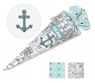 DIY-Nähset Schultüte – Technical Doodle – zum selber Nähen