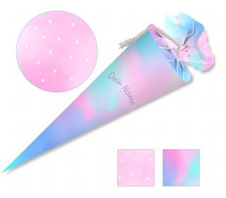 DIY-Nähset Schultüte – Tie-Dye Love – Schulkind Candy – zum selber Nähen