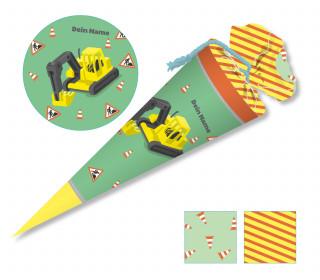 DIY-Nähset Schultüte – Bagger – Käselotti – zum selber Nähen