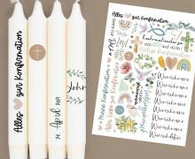 DIN A4 - Tattoofolie - Konfirmation - für Kerzen / Keramik