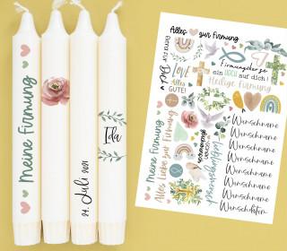 A4 Bogen - Kerzen-Tattoofolie - Firmung