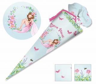 DIY-Nähset Schultüte – Wildblume Illustration – Frühlingsfee – zum selber Nähen