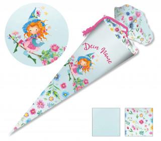 DIY-Nähset Schultüte – Wildblume Illustration – Frühlingshexe – zum selber Nähen