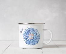 Emaille Becher – Winterelfe – Wildblume Illustration