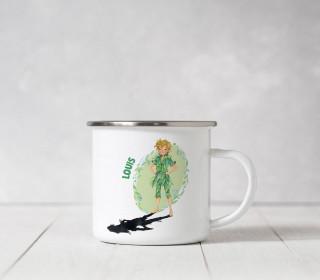 Emaille Becher - Auf ins Abenteuer - Wildblume Illustration