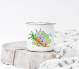 Emaille Becher – Karl Klopfer – Wildblume Illustration