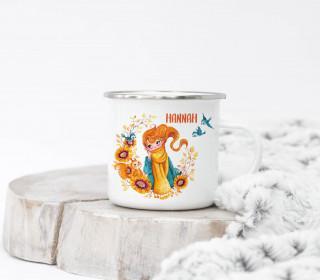Emaille Becher – HerbstTraum – Wildblume Illustration