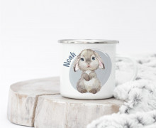 Emaille Becher – Blissful Bunny – Blake
