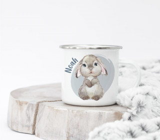 Emaille Becher - Blissful Bunny - Blake