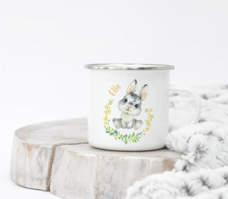 Emaille Becher - Blissful Bunny - Brooke