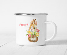 Emaille Becher - Blissful Bunny - Bella