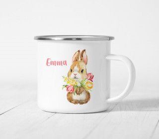 Emaille Becher – Blissful Bunny – Bella