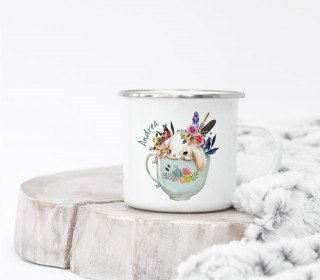 Emaille Becher – Teaparty – Bunnies