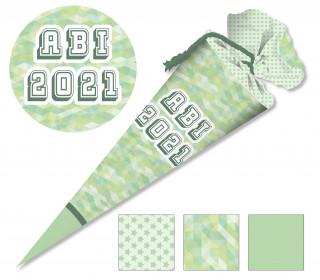 DIY-Nähset Schultüte - ABI - grün - zum selber Nähen