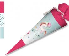 DIY-Nähset Schultüte - Zucker Einhorn - zum selber Nähen