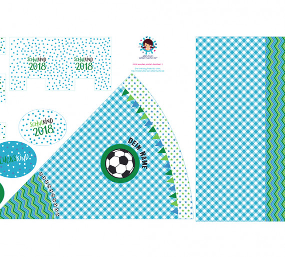 DIY-Nähset Schultüte - Fußball - zum selber Nähen