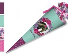 DIY-Nähset Schultüte - Dream Horses - Blumen - mint - zum selber Nähen