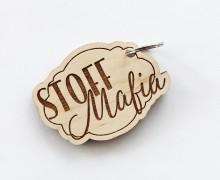 Dein Geschenk - 1 Schlüsselanhänger - Stoff Mafia - Holz