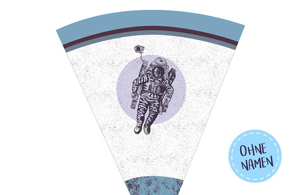 DIY-Nähset Schultüte - Astronaut - zum selber Nähen