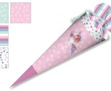 DIY-Nähset Schultüte - Wildblume Illustration - Little Dreamer Rosa - zum selber Nähen