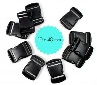 10 x 40mm Steckschnalle zum Regulieren