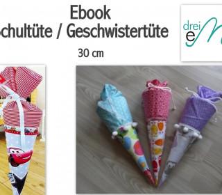 Ebook - Geschwistertüte / Schultüte 30 cm