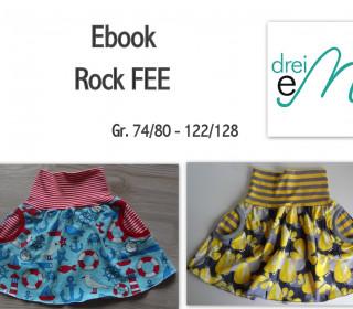 Ebook - Rock FEE mit Taschen Gr. 74/80-122/128