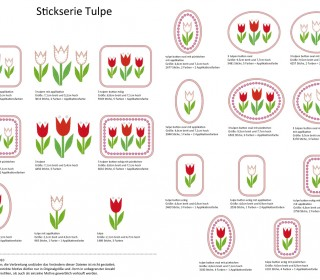 Stick Datei -   Tulpe Stickserie