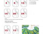 Stick Datei -  Hirschprofil Zahlen Anhänger Stickserie