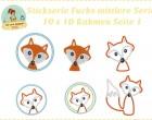 Stick Datei -   Mittlere Stickserie Fuchs 10x10