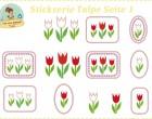 Stick Datei -   Tulpe Stickserie