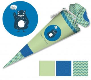 DIY-Nähset Schultüte - Monster - zum selber Nähen