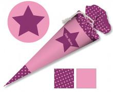 DIY-Nähset Schultüte – Stern Pink – zum selber Nähen
