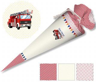 DIY-Nähset Schultüte - Feuerwehr Jungs - zum selber Nähen