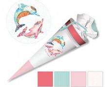DIY-Nähset Schultüte - Delfine - zum selber Nähen