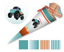 DIY-Nähset Schultüte - Monstertruck - zum selber Nähen