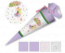 DIY-Nähset Schultüte - Wildblume - Blütenschirm
